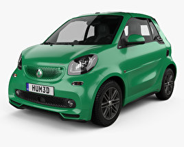 3D model of Smart ForTwo Brabus Electric Drive cabriolet 2017