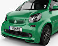Smart ForTwo Brabus Electric Drive cabriolet 2017 3d model