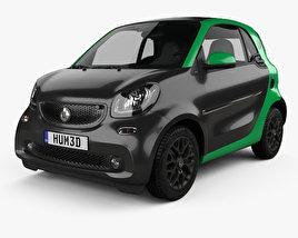 Smart ForTwo Electric Drive coupe 2017 3D model