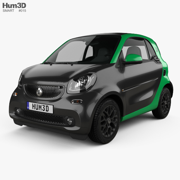 Smart ForTwo Electric Drive coupe 2017 3Dモデル