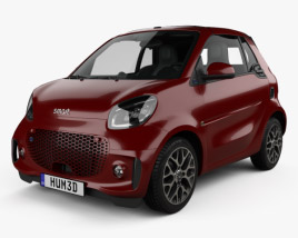 3D model of Smart ForTwo EQ Prime cabriolet 2020