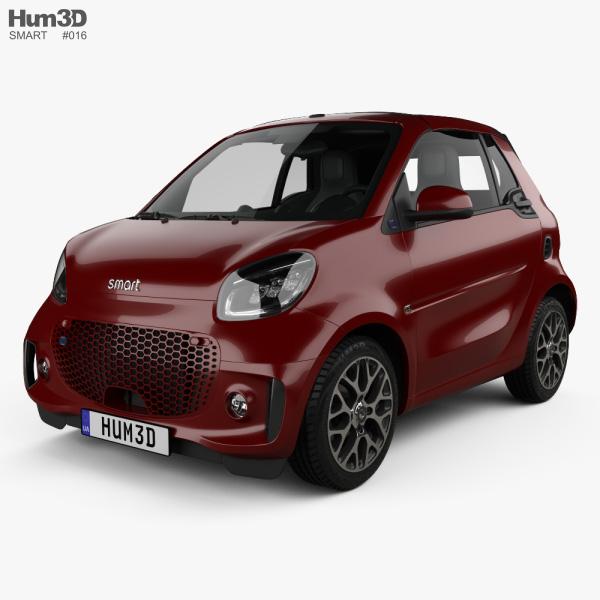 Smart ForTwo EQ Prime cabriolet 2020 3D model