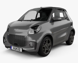 3D model of Smart ForTwo EQ Pulse cabriolet 2020
