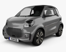 3D model of Smart ForTwo EQ Prime coupe 2020