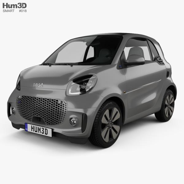 Smart ForTwo EQ Prime coupe 2020 3Dモデル