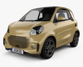 3D model of Smart ForTwo EQ Pulse coupe 2020