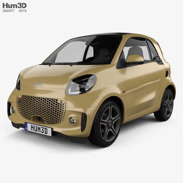 Smart ForTwo EQ Pulse coupe 2020 3Dモデル