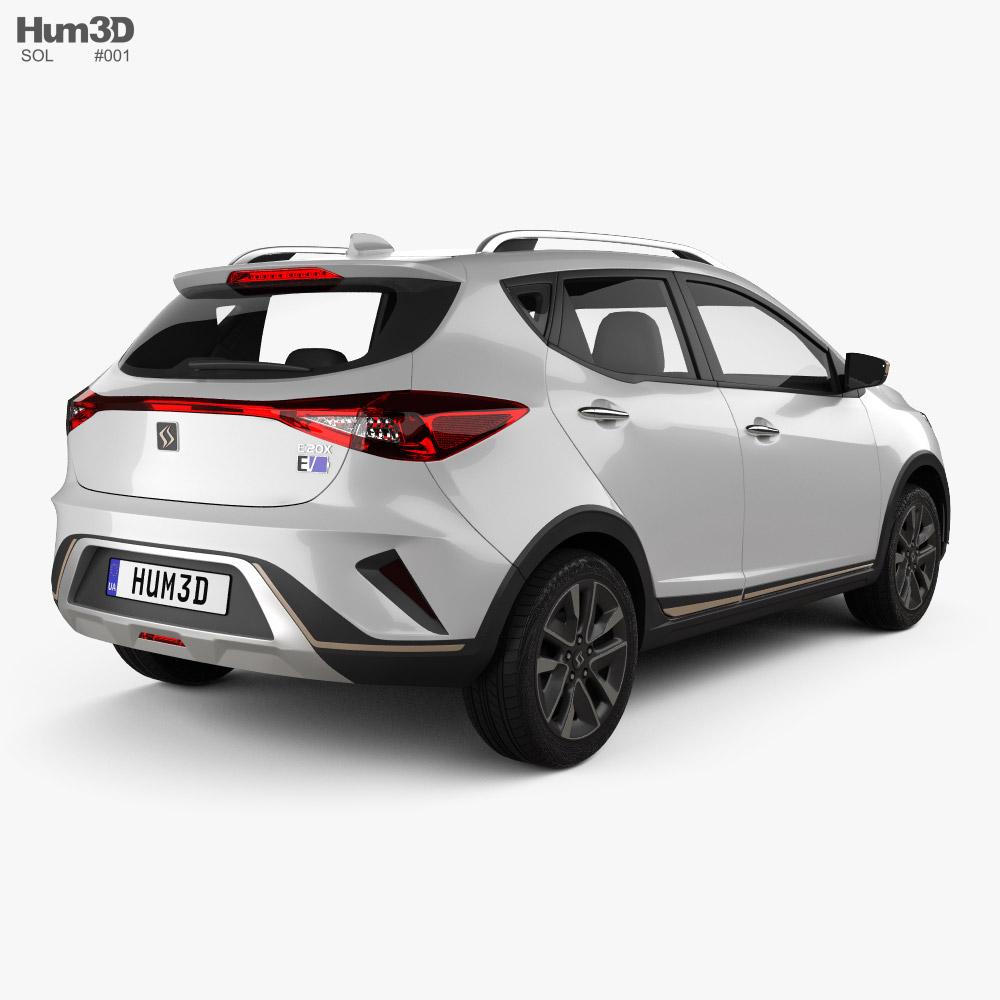 Sol E20X 2018 3d model back view
