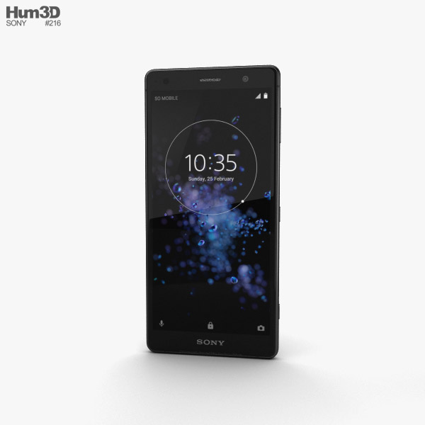 Sony Xperia XZ2 Liquid Black 3D model