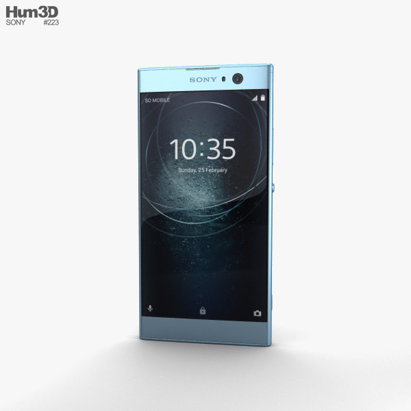 Sony Xperia XA2 Blue 3D model