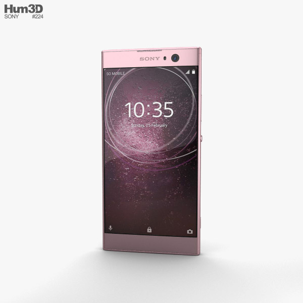 Sony Xperia XA2 Pink 3D model