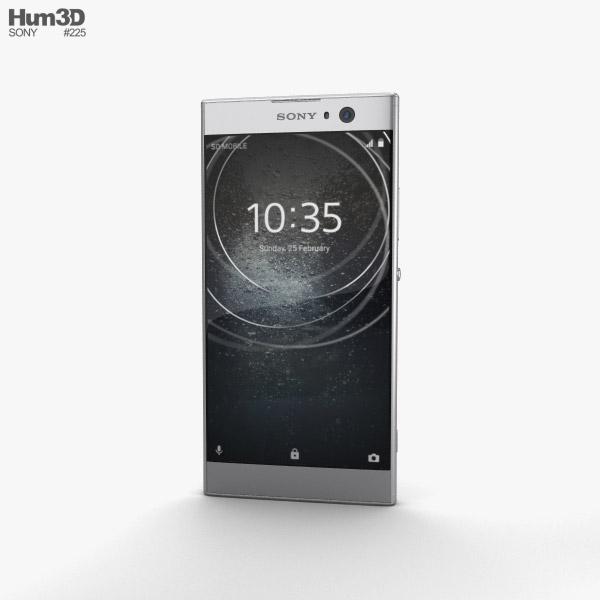 Sony Xperia XA2 Silver 3D model