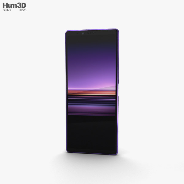 Sony Xperia 1 Purple 3D model