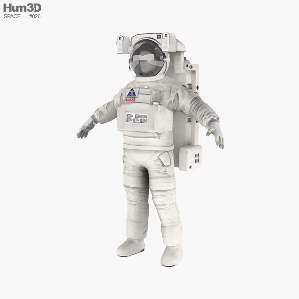 Astronaut EVA suit 3D model