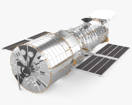 3D model of Hubble Space Telescope