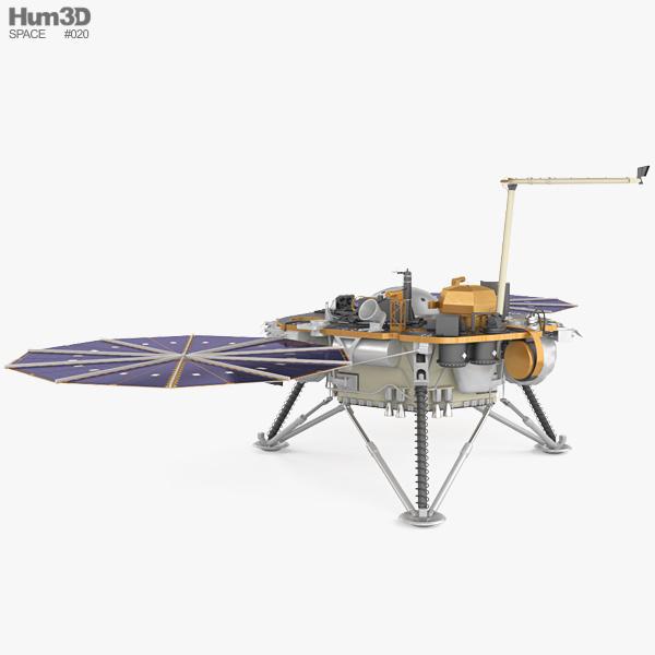 InSight Mars lander 3D model