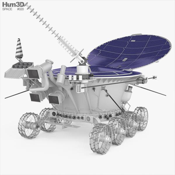 3D model of Lunokhod 2