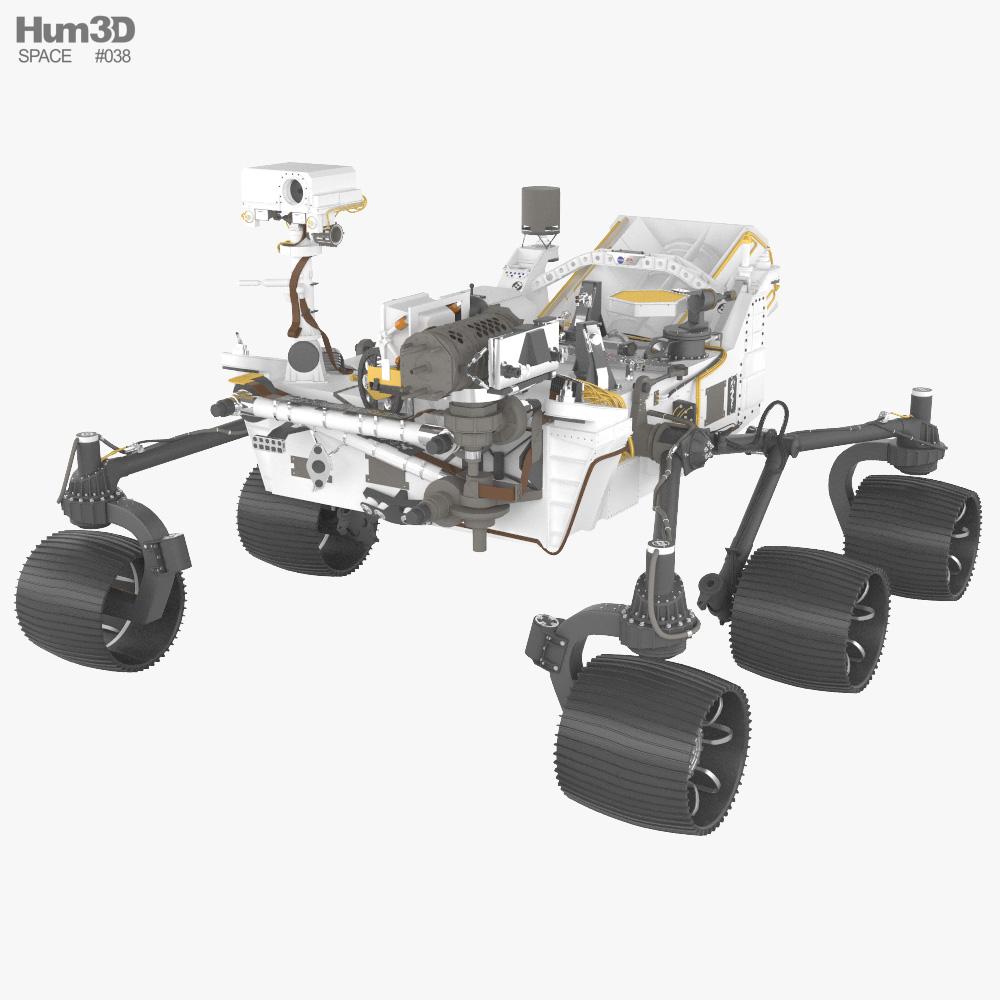 Perseverance rover 3D model