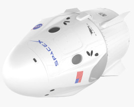Crew Dragon SpaceX 3D model