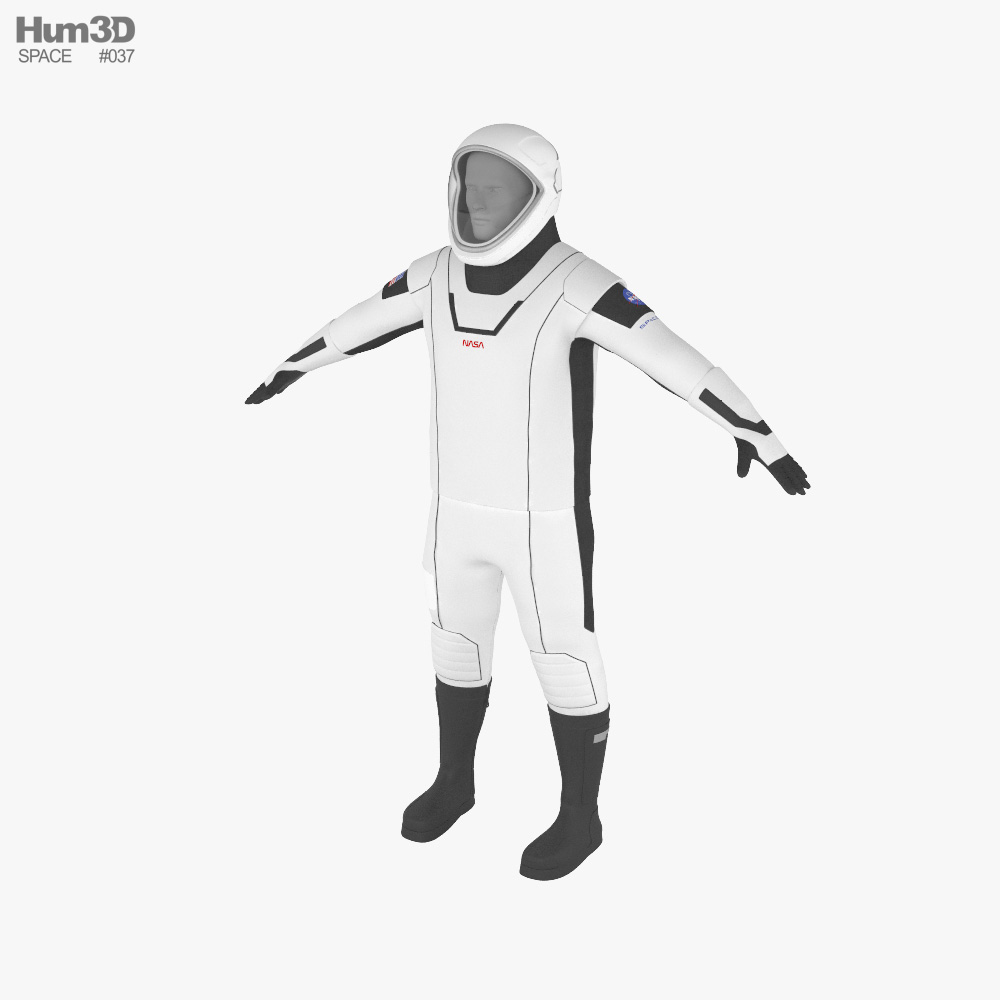 3D model of SpaceX Suit