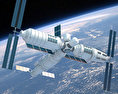 Tiangong-1 Space Station 3d model