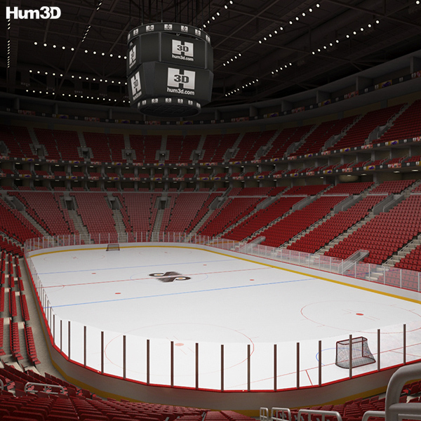 3D model of Wells Fargo Center