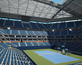 3D model of Arthur Ashe Stadium