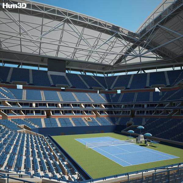 3D model of Arthur Ashe Stadium
