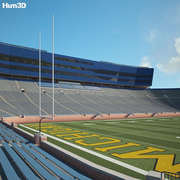 3D model of Michigan Stadium