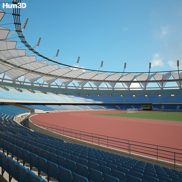 Jawaharlal Nehru Stadium 3D model