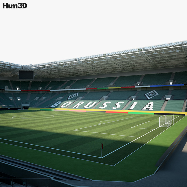 Borussia Park 3D model
