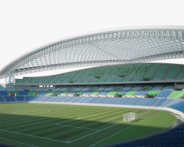 3D model of Saitama Stadium 2002