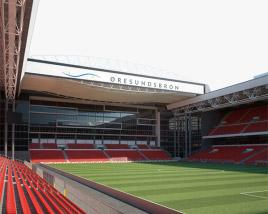 3D model of Parken Stadium