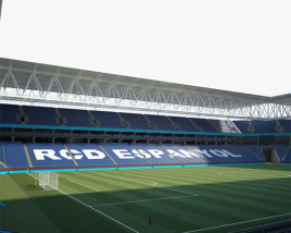3D model of RCDE Stadium
