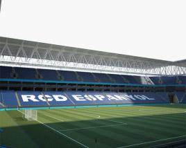 3D model of RCDE Stadium
