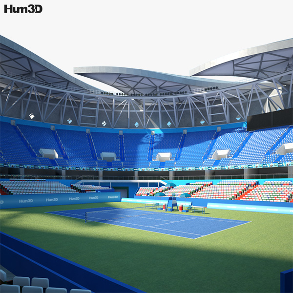 3D model of Qizhong Forest Sports City Arena