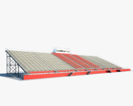 3D model of Clinton High tribune