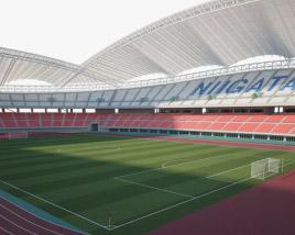 3D model of Denka Big Swan Stadium (Niigata Stadium)