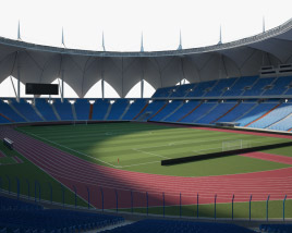3D model of King Fahd International Stadium