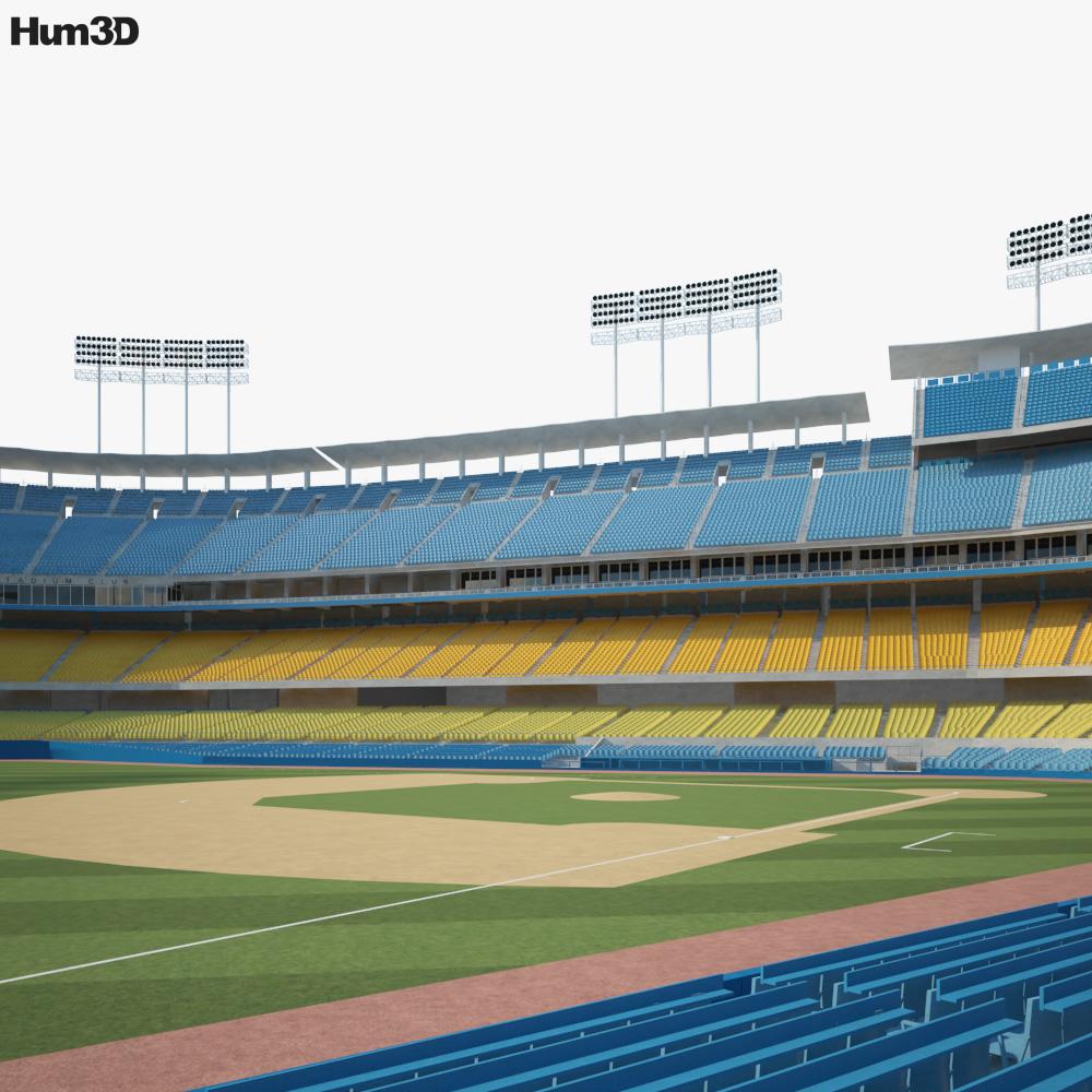 Dodger Stadium 3D model