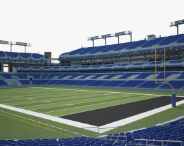 3D model of M&T Bank Stadium