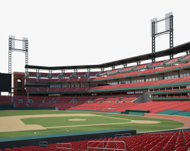Busch Stadium 3D model