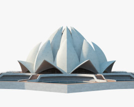 Lotus Temple 3D model