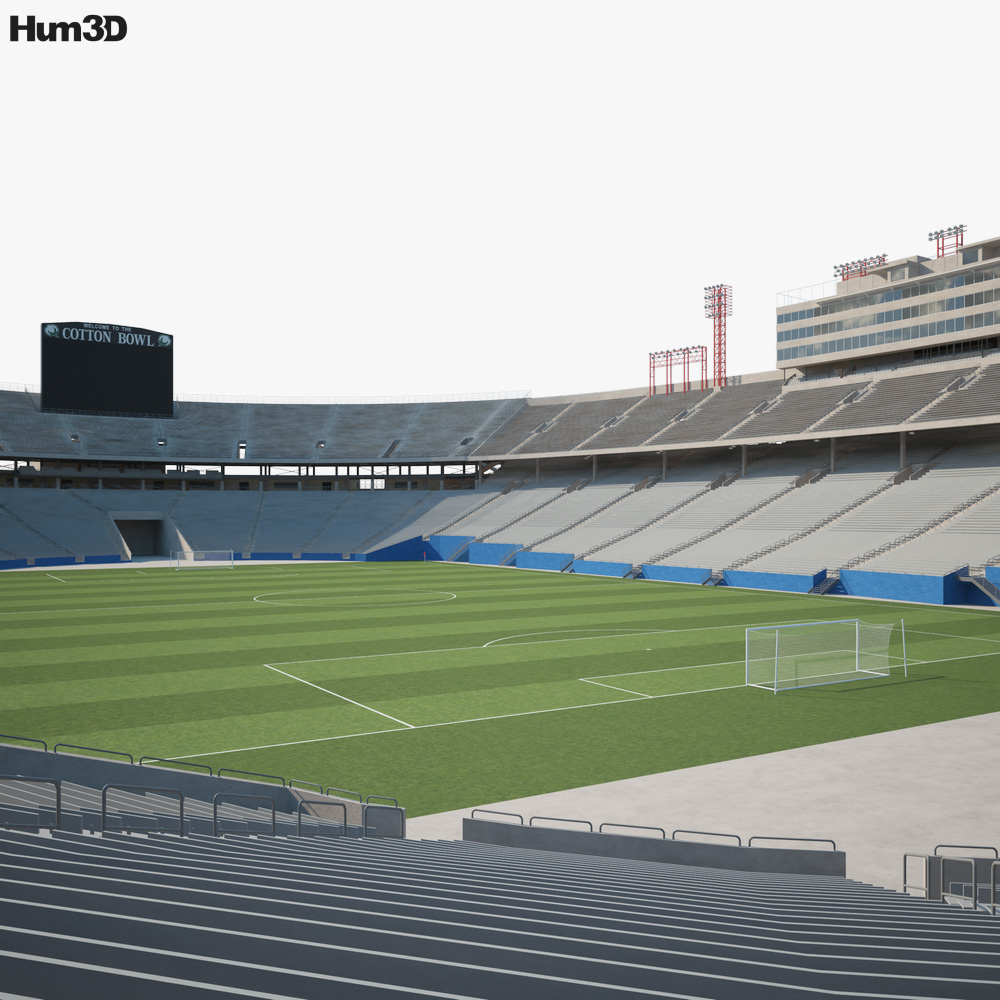 Cotton Bowl stadium 3D model