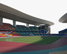 3D model of Guangdong Olympic Stadium