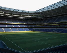 3D model of Tottenham Hotspur Stadium
