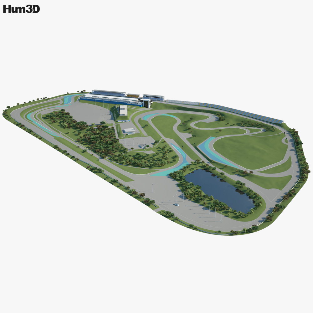 Interlagos Race Track 3D model