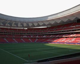 Metropolitano Stadium 3D model