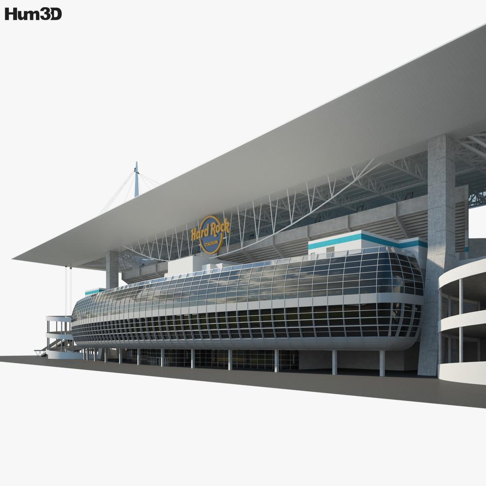 Hard Rock Stadium 3d model