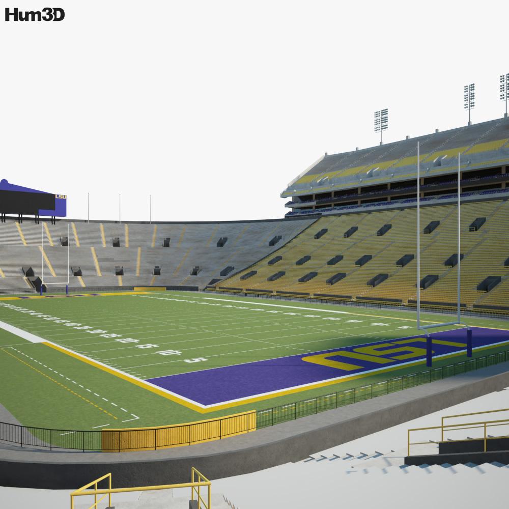 Tiger Stadium LSU 3d model